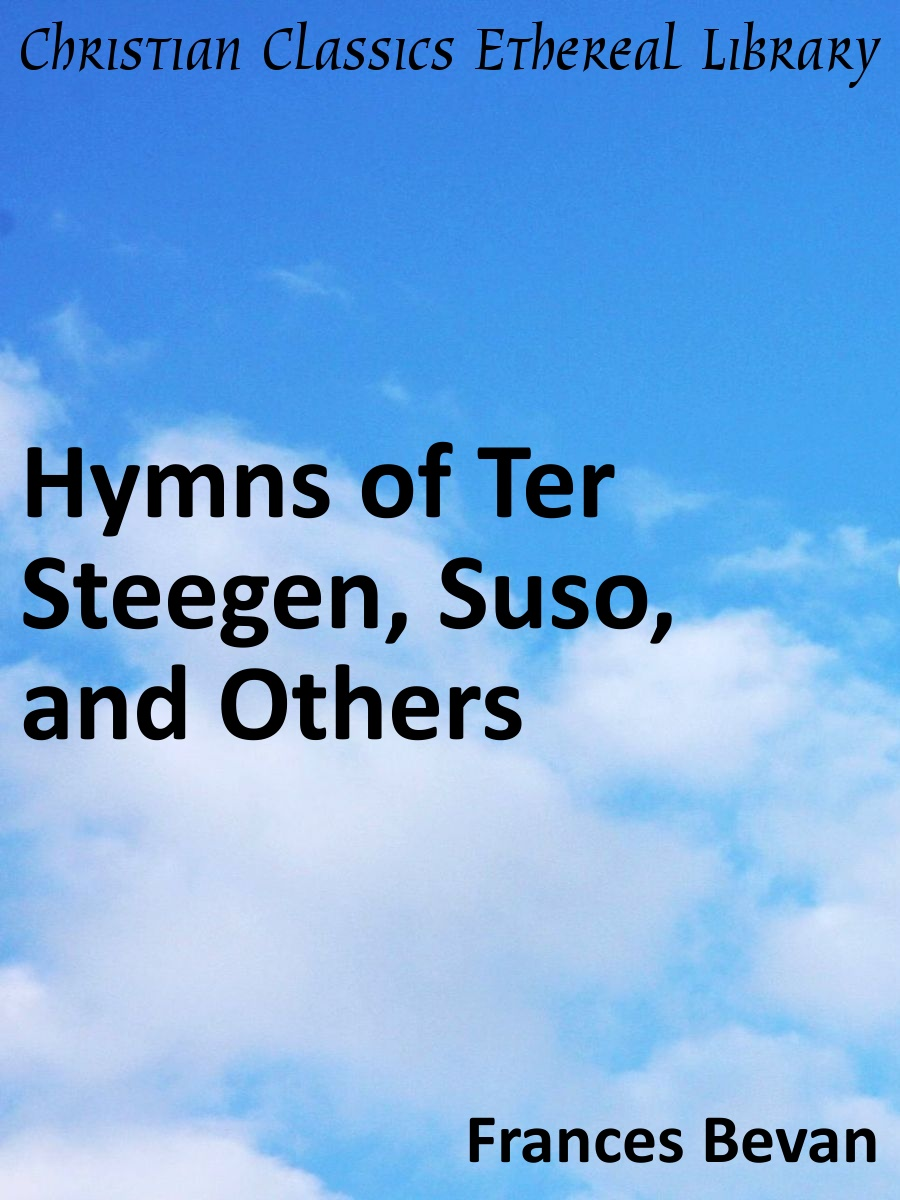 Hymns of ter steegen suso and others christian for Meaning of terrace in english