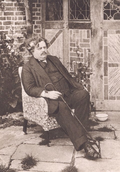 G.K. Chesterton - From a photograph