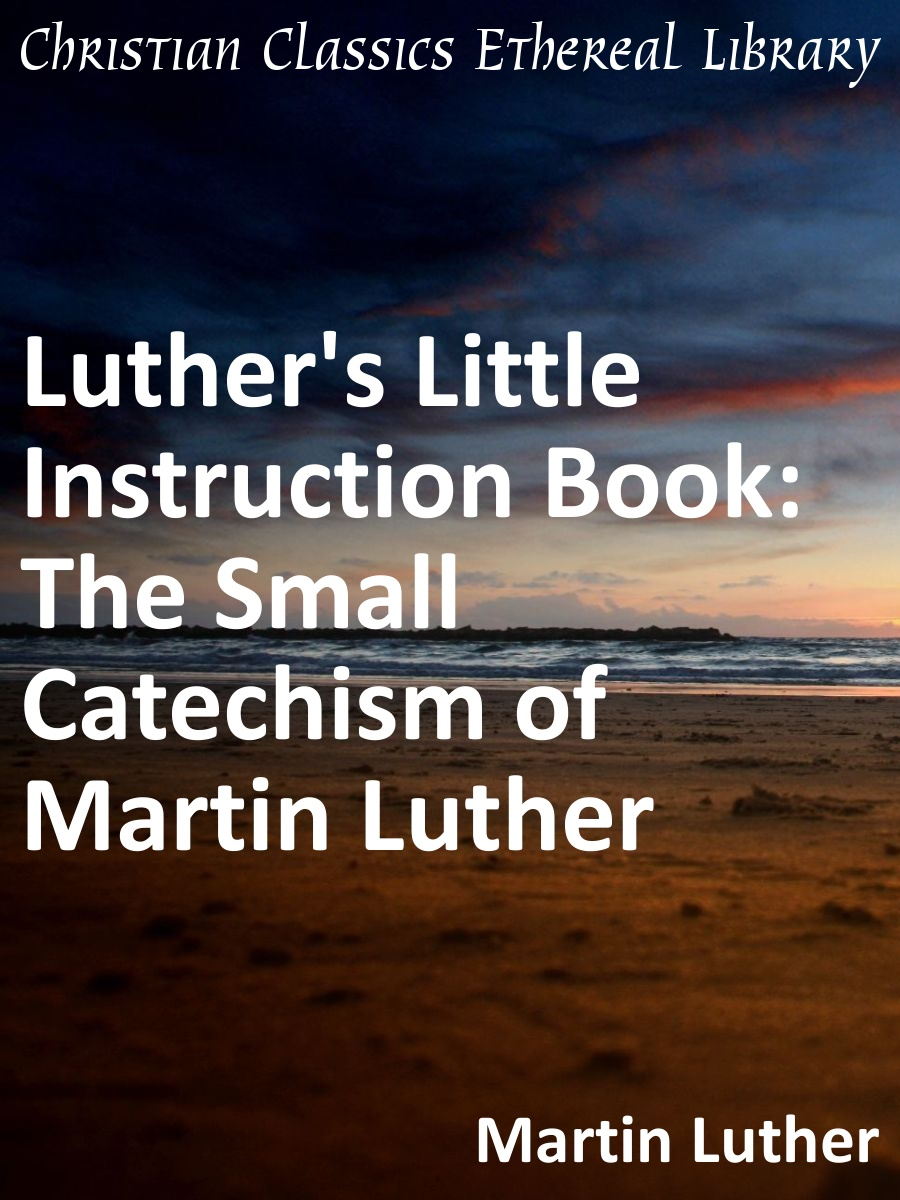 Luther S Little Instruction Book The Small Catechism Of